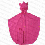 Милый PVC Children/Kid Poncho Raincoats Pink для Girls