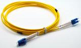 LC APCのシンプレックスかデュプレックスシングルモード光学パッチ・コードケーブル3.0mm