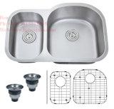Acier inoxydable sous le bassin de cuisine de cuvette de double de support, bassin d'acier inoxydable, bassin, bassin fabriqué à la main