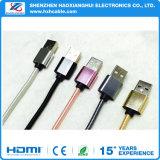 2 в 1 кабеле USB с одной головной обязанностью и передаче данных для iPhone и Android