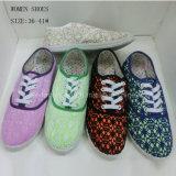 Neue Frauen-Einspritzung-Segeltuch-Schuhe der Art-Dame-beiläufige Schuhe (1010-17)