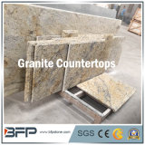 Partie supérieure du comptoir normale jaune de granit/partie supérieure du comptoir de cuisine/dessus de cuisine pour la décoration de Chambre