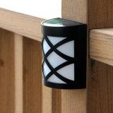 Iluminación al aire libre solar impermeable del punto de la seguridad de la lámpara de pared del pasillo de la azotea del camino de la luz de calle de la luz 6 LED del sensor solar de la lámpara del LED