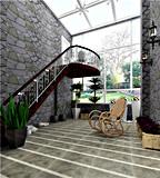Azulejo de suelo rústico de azulejo de la pared de piedra del cemento del azulejo Sn6207
