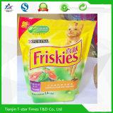 Sac de empaquetage en plastique composé adapté aux besoins du client d'aliment pour animaux familiers d'impression