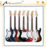 Guitare électrique bon marché multicolore de la Chine