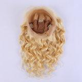 Eurasische lose Dichte Glueless der Wellen-neue Entwurfs-Art-130% volle blondes Haar-Perücke der Spitze-Menschenhaar-Perücke-Farben-#613