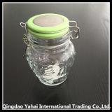 [320مل] بيضويّة زجاجيّة تخزين مرطبان