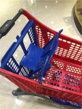 Carrello di plastica Yd-002 del carrello di acquisto del nuovo supermercato di disegno