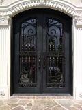 Puerta del arco de seguridad del hierro labrado del doble del diseño moderno