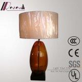 고대 호텔 장식적인 청동색 유리제 침대 탁자 램프