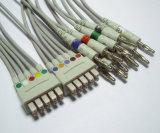 Câble du joncteur réseau 10 EKG/ECG du CEI GE-Marquette 15pin