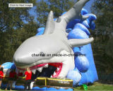 Water Gamesのための工場Direct Inflatable Slide Shark Big Slide