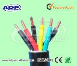 Fio elétrico de cabo distribuidor de corrente 3*0.75mm2 para a lâmpada e a iluminação H03VV-F