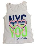 Gilet sans manche de T-shirt de fille dans des vêtements d'enfants de mode (SV-022-027)