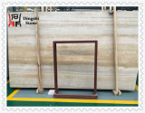 De gouden/Beige Houten Steen van de Travertijn van de Ader voor de Tegel van /Wall van de Vloer