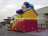 Diapositiva inflable de la piel gigante popular con la historieta del payaso