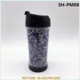 tasse de café de publicité en plastique à mur unique de tasse de la course 350ml (SH-PM08)