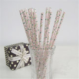 Los items decorativos venden al por mayor la paja de papel de consumición del árbol de navidad