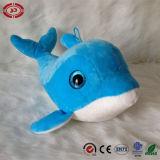 Jouet mou d'enfants de dauphin de grande Nice peluche bleue bleue de yeux