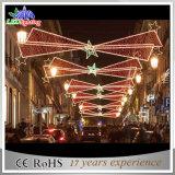 luz ao ar livre do motivo da rua do diodo emissor de luz do Natal de 300cm para a lâmpada de pólo