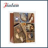 Sacos de pedra Pé-Shaped relativos à promoção do presente do portador da compra do papel revestido