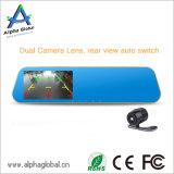 """4.3 """" des LCD-hinterer Spiegel-Auto-DVR Gedankenstrich-Nocken Auto-des Kamerarecorder-1080P"""