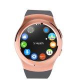 Relógio esperto de Bluetooth 4.0 (MTK2502, SIM, GPRS, monitor da frequência cardíaca, perseguidor da aptidão)