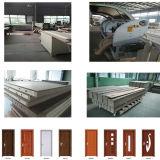 Le PVC de qualité enroulent la porte en bois intérieure