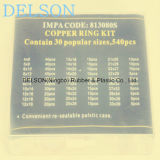 Junta de cobre hidráulica plana del surtido 30size 540PCS del kit del lacre