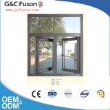 Guichet en aluminium de tissu pour rideaux en verre Tempered de double vitrage de prix usine