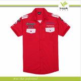 Рубашки экипажа ямы подгонянных людей высокого качества 100%Cotton (KY-F001)