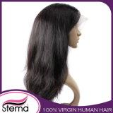 Recto natural del cordón del frente de las pelucas llenas del pelo humano