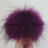 Factory Supply Goedkope Raccoon Fur Pompom Sleutelhanger