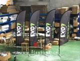 3.4m Tradeshow-einzelne seitliche Drucken-Fliegen-Aluminiumfahne/Feder-Markierungsfahne