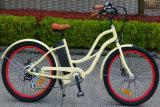 la potencia 250W asistió a la bicicleta del crucero para las señoras con el motor del eje de la bicicleta