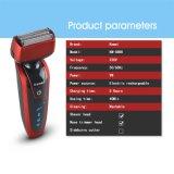 Kemei5888 nuevos 2 en 1 condensador de ajuste 3D de la máquina de afeitar eléctrica y del pelo de nariz que intercambia la maquinilla de afeitar de los hombres