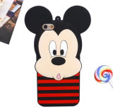 Het Geval van de Telefoon van de Cel van het Silicone van Minnie van de Streep van Mickey van de Verrassing van de Boog van de PUNT van het beeldverhaal (xsd-080)
