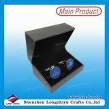 Conexiones de pun¢o elegantes del diseño con las mancuernas de la impresión del diseño de la insignia del cliente fijadas