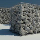 1X1X1m zincam pesadamente a gaiola soldada revestida de Gabion (ZDWGC)