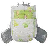 柔らかく、通気性の中国の卸し売り綿の赤ん坊のおむつ