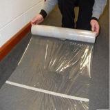 Protetor plástico adesivo elevado transparente macio do tapete