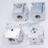 CNC de aluminio del bloque 7075 por encargo que trabaja a máquina para la pieza de la válvula del instrumento y del contador