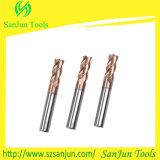 Moinho de extremidade do quadrado do carboneto do aço de tungstênio de quatro flautas