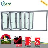 Modèle en verre se pliant de portes de plastique moderne anti-vieillissement de la Chambre UPVC/PVC