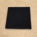 Caboteur fait sur commande de Placemat de barre de tasse de cuir véritable d'unité centrale de noir de logo