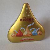 물 하락은 초콜렛 주석 상자 키스 주석 상자를 형성했다