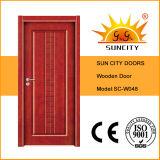 Сбывания определяют нутряные твердые деревянные двери (SC-W048)