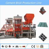 Máquina de fatura de tijolo concreta do Paver do cimento Qt6-15 automático cheio