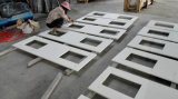 Чисто белые искусственние Countertops кварца для кухни, ванной комнаты, острова
